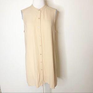 Eileen Fisher silk tunic top blush